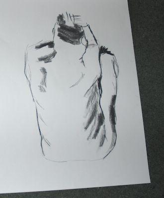 Naaktmodel Tekenen - houtskool tekening | Beleef Breda